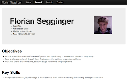 Screenshot of FlorianSegginger.ch